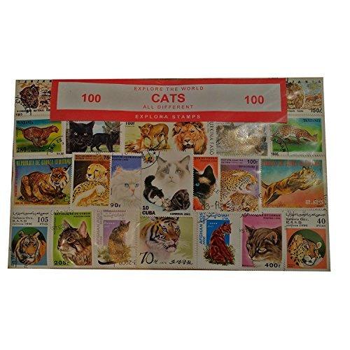 Explora Colección de 100 Sellos Felinos - Gatos / Gatos