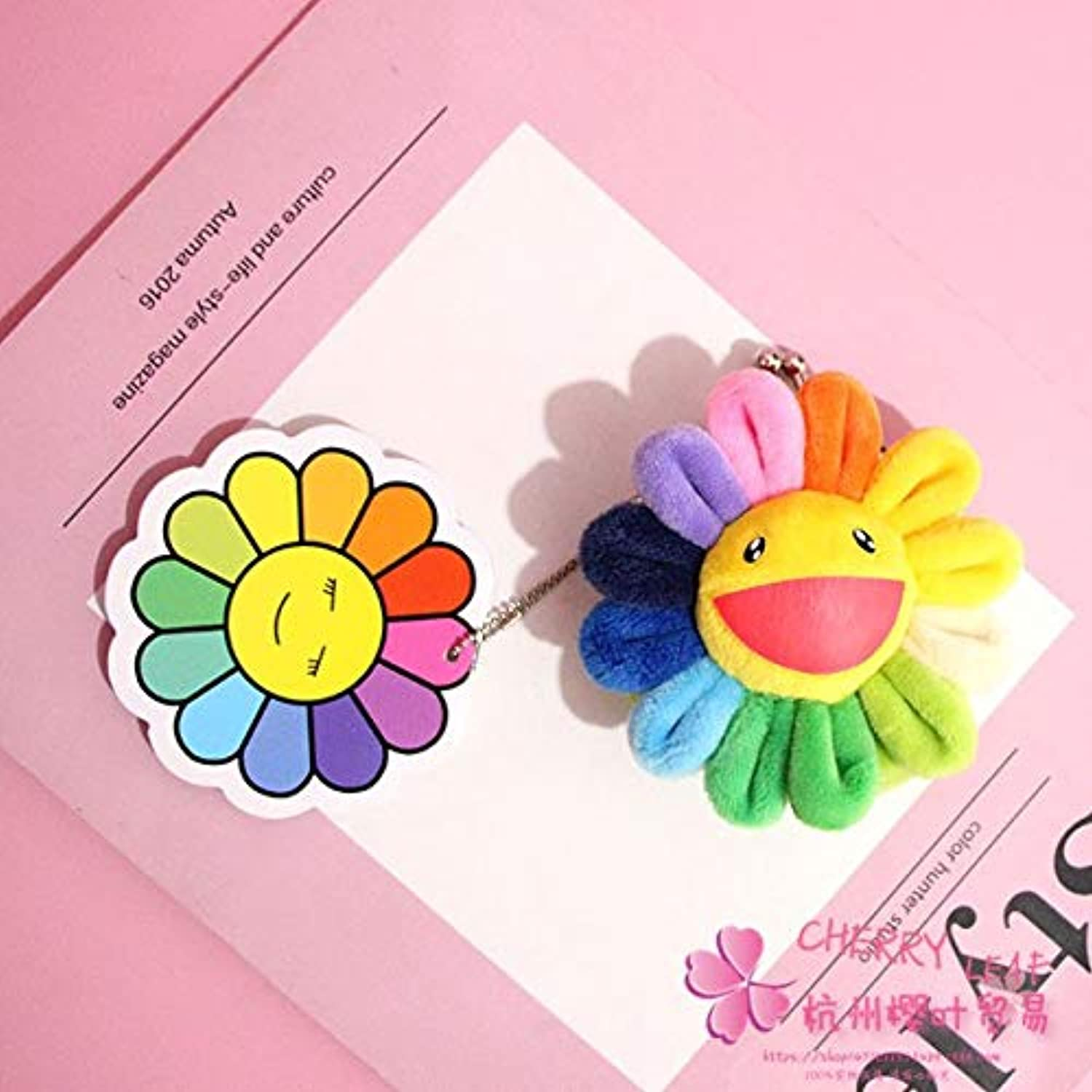Coin Purse   Card Key Bags   colorful Sunflower Anime Plush   Kid Gifts