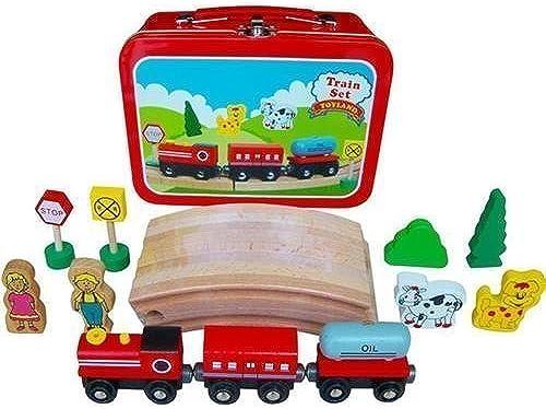boisen Circular Train Set in voyage Case by Playwrite