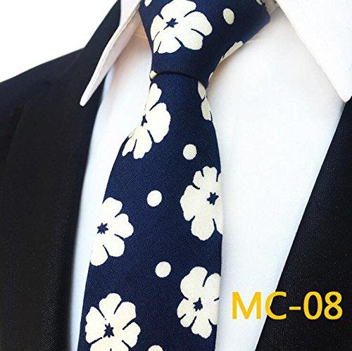 LBBJJ Heren Tie Katoen smalle versie Chinese stijl retro patroon persoonlijkheid feestjurk mannen das 6cm, donkerblauw heeft: stropdas, mode stropdas, eenvoudige stropdas, vintage stropdas, klassieke stropdas, mannen stropdas.