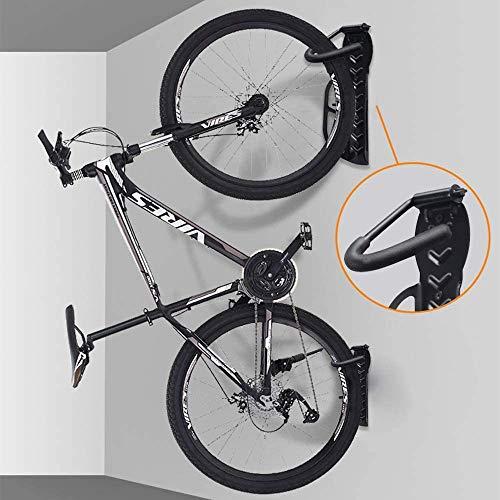 2PCS Wall Mounted Bike Rack Hook Space Saving Vertical Bicycle Wall Hanger Indoor Bicycle Storage Rack Stand Max. Load 30 Kg/66 Lb For Each Rack Black (2pcs black)
