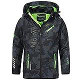 Geographical Norway - Chaqueta Rainman Turbo-Dry para hombre con tejido softshell y capucha azul y verde M