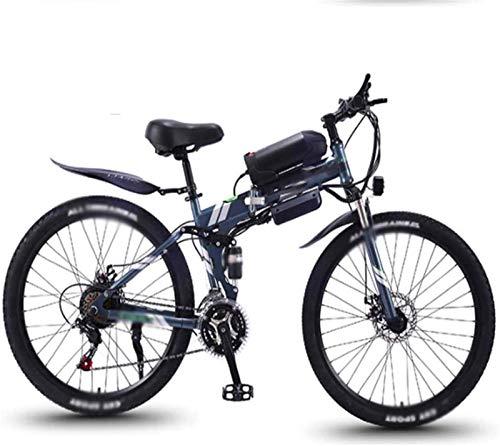 ZJZ Bicis eléctricas Plegables de 26 Pulgadas, Deportes de la Bicicleta de...