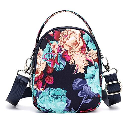 TAMALLU Damen Mittel Capacity Oxford Messenger Taschen Praktische Taschen Reise Quadratische Taschen(Mehrfarbig F)