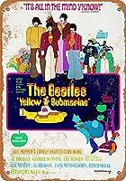 なまけ者雑貨屋 メタルサイン Beatles Yellow Submarine Movie ヴィンテージ風 ライセンスプレート メタルプレート ブリキ 看板 アンティーク レトロ
