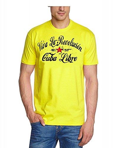 Viva La Revolution KUBA LIBRE VINTAGE gelb_slimfit GR.XXL
