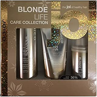 Joico Blonde Life Brightening & Illuminating Trio: Shampoo 300ml, Maschera 150ml, UV & Thermal Defense Multi-tasker 150ml