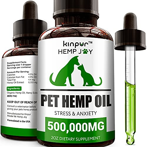 Natural Hemp Oil for Dogs and Cats - Calming and...