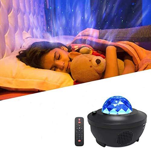 Sternenprojektor Nachtlicht,Morwealth Sternprojektor mit musik Fernbedienung Bluetooth Lautsprecher für Baby Kinder Party,Weihnachten,Schlafzimmer, Halloween