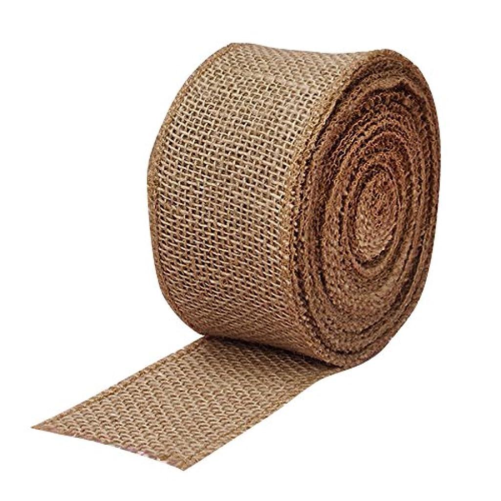 Fabric Burlap Woven Ribbon - 2 1/2
