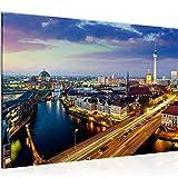 decoración de la mesa del muro de Berlín - 60 x 40 cm Vista de impresión en lienzo Salón Apartamento - listo para colgar - 605115a