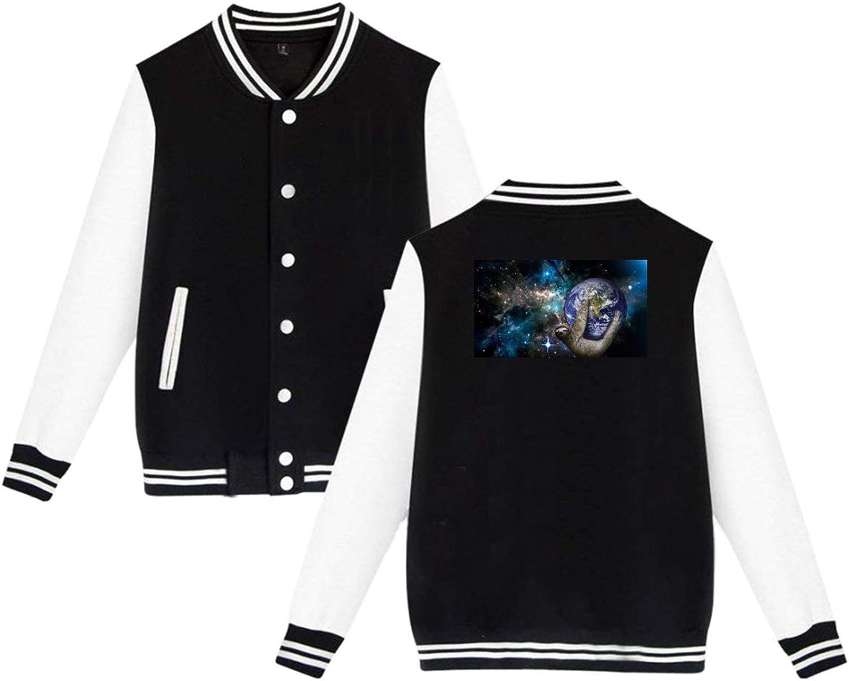 1fd3842527 Hj21 Unisex Men's Varsity Baseball Baseball Baseball Uniform Jacket Space  Sloths Sport Coat Winter Sweatshirt Velvet 9aa7c0