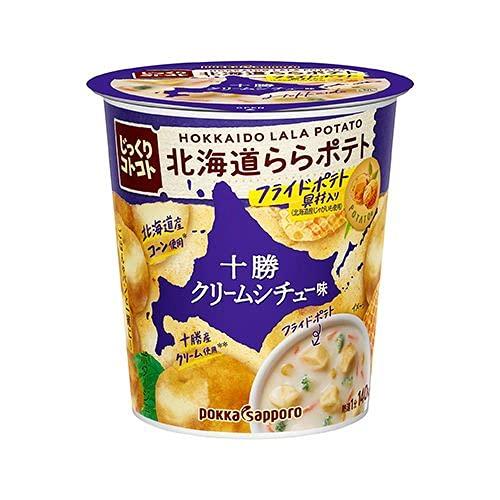 ポッカサッポロ じっくりコトコト 北海道ららポテト 十勝クリームシチュー味 カップ入り 28.9g×6個入