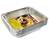 eHomeA2Z Aluminum Pans Disposable Half Size (10 Pack) 9' x 13' Prepping, Roasting, Food, Storing, Heating, Cooking, Chafers, Catering, Buffet Supplies (10, Half Size)