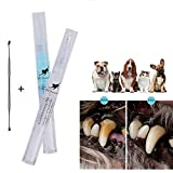 ZHiveS Pets Dogs Teeth Tartar Dental Calculus Stones Remover Toothbrush Cleaning Tool Kit (5ml Detergent+ Cleaning Tools)