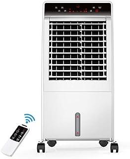 Móviles Evaporativos Ventiladores Ventilador Del Aire Acondicionado Cálido Y Frío Para El Botón Táctil De Doble Uso Depósito De Agua De 8 L. Temporización De 12 H. Modo De 3 Velocidades, 3 Vientos, Bl