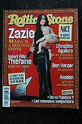ROLLING STONE T 14351 3 COVER ZAZIE HUBERT-FELIX THIEFAINE BEN HARPER R AVEDON M YOUN THE LIBERTINES C AGUILERA - 2002 12