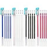 Bolígrafos borrables por calor, 4 unidades de rotuladores de tela con 20 recambios para costura, confección, tejidos,...