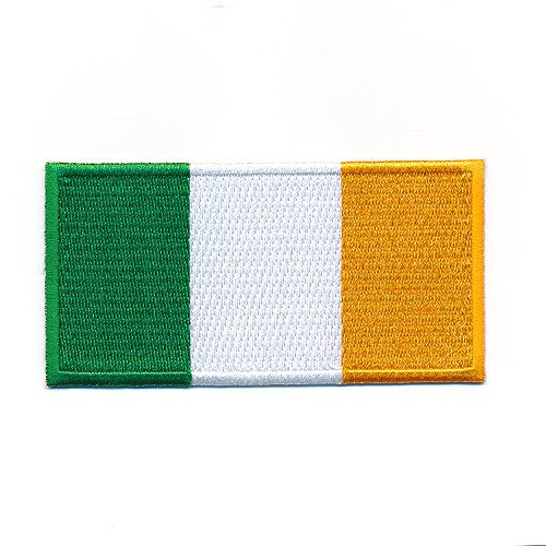hegibaer 40 x 20 mm Irland Dublin Flagge Ireland Flag Europa Aufnäher Aufbügler 1091 Mini