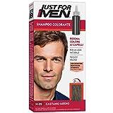 Just for Men Shampoo Colorante, H35 – Castano Medio, Shampoo Colorante per Uomo (Nuova Formula)