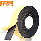 "Foam Insulation Tape Adhesive, Seal, Doors, Weatherstrip, Waterproof, Plumbing, HVAC, Windows, Pipes, Cooling, Air Conditioning, Weather Stripping, Craft Tape (33 Ft- 1/8"" x 2"")"