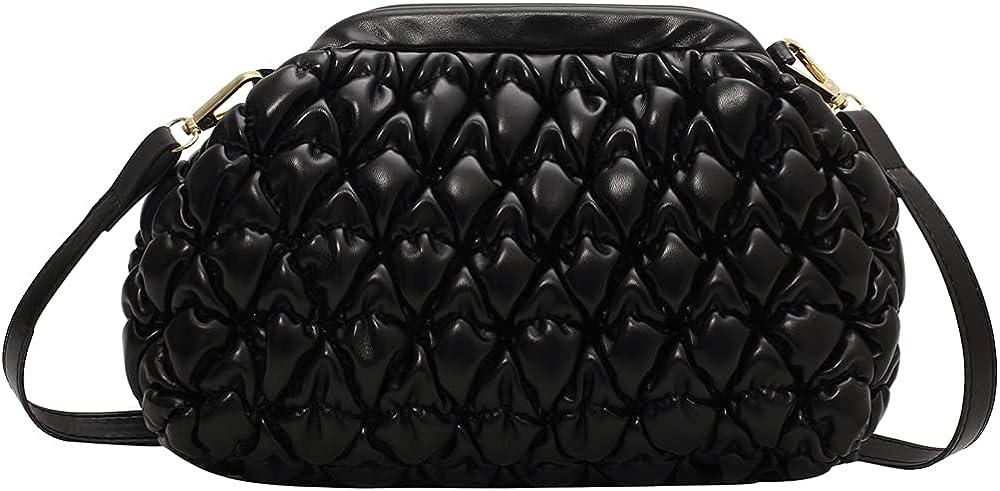 Clutch Purse and Cloud Dumpling Bag,Small Crossbody Bags for Women,Pleated Shoulder Handbags,Soft PU Leather