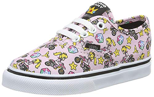 Vans Unisex Baby Authentic Sneaker, Pink ((Nintendo) Princess Peach/Motorcycle), 23.5 EU