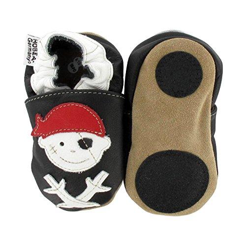 HOBEA-Germany Lauflernschuhe Pirat 'Jack', Größe Schuhe:26/27 (30-36 Mon);Pirat schwarz