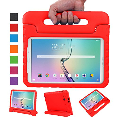 NEWSTYLE Tab E 9.6 Kids Case - Shockproof Light Weight Protection Handle Stand Kids Case for Samsung Galaxy Tab E / Tab E Nook 9.6 Inch 2015 Tablet (Not Fit Other Table)(Red)