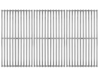 Hongso 19 1/4  Stainless Steel Cooking Grid for Gas Grill Brinkmann Charmglow Costco Jenn Air Members Mark Nexgrill Perfect Flame and Other Grill Grates Replacement 3 Pieces SCI1S3