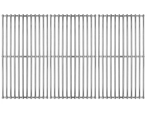"Hongso 19 1/4"" Stainless Steel Wire Cooking Grid Replacement for Select Gas Grill Models by Brinkmann, Charmglow, Costco, Jenn Air, Members Nexgrill, Perfect Flame SAMS Club and Others Set of 3 SCI1S3"