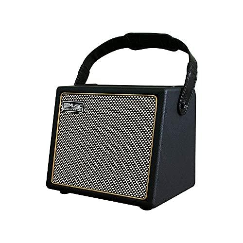 Acoustic Guitar Amplifier, 30 Watt Bluetooth Speaker Rechargeable Portable Acoustic Guitar Amp with Reverb Chorus Effect,3 Inputs,USB Charging Interface