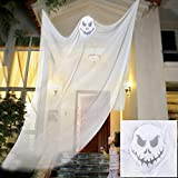 <span class='highlight'><span class='highlight'>FlowersSea</span></span> Halloween Props Hanging Ghost Flying Skeleton Halloween Decorations for Outdoor Indoor Haunted House Party Bar 3m/10ft Long (White)