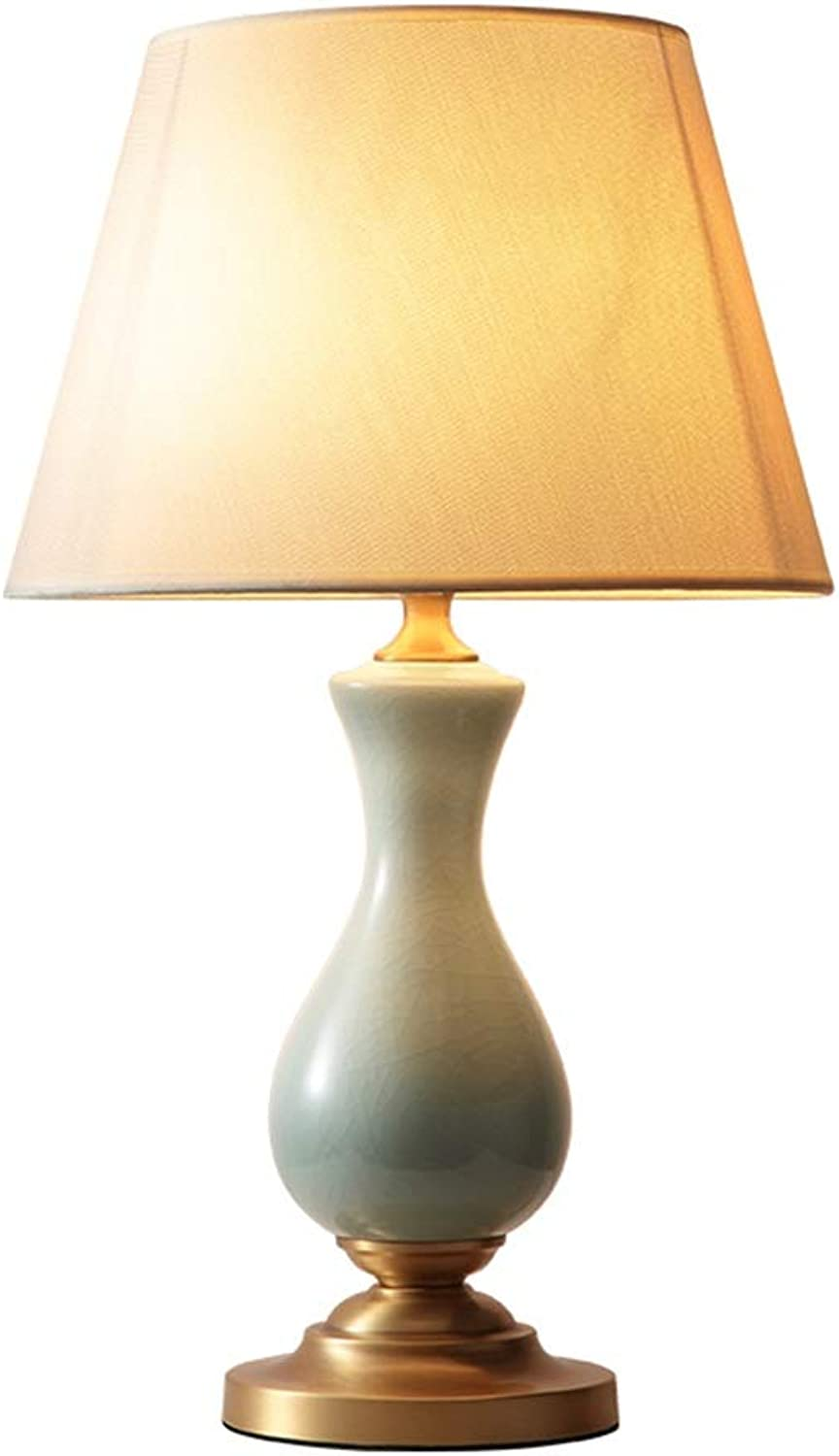 Noble.store Table Lamp Bedroom Decoration Table Lamp Simple Household Bedside Lamp Ceramic Fabric Living Room Table Lamp 4628 Table lamp