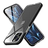 MATEPROX Ultra Sottile Cover per iPhone 12 PRO/iPhone 12 Custodia, Chiaro Duro PC, TPE Protettiva Bumper Antiurto Cover Custodia per iPhone 12 PRO/iPhone 12 6.1'-Nero
