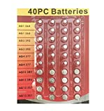 Wennow'40pc Value Pack High Power Assorted Alkaline Button Cell Battery Kit'
