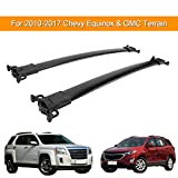 AUXMART Roof Rack Cross Bars for 2010–2017 Chevy Equinox & GMC Terrain Rooftop Luggage Cargo Carrier Rail Crossbars System Replacement