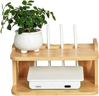 BBGSFDC En la Pared televisión en Bastidor for Cajas, Multifuncional Router WiFi Estante Estante de Almacenamiento Durader...