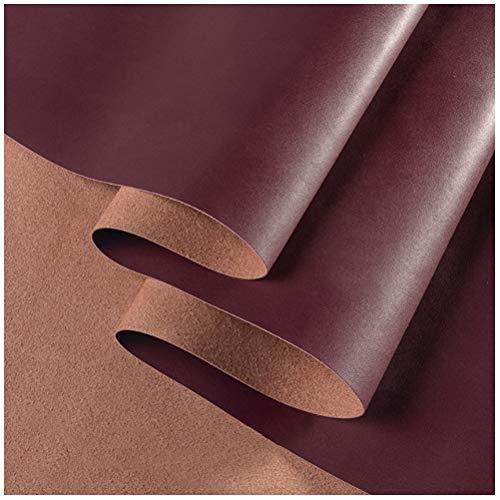 Möbelstoff Premium Bezugsstoff Zum Heavy Duty Kunstleder Qualität Strapazierfähig Neue Weiche Textur Gefühl Kunstleder PU-Material Polster Strukturiertes Material ( Color : 26#Wine red , Size : 1mm )
