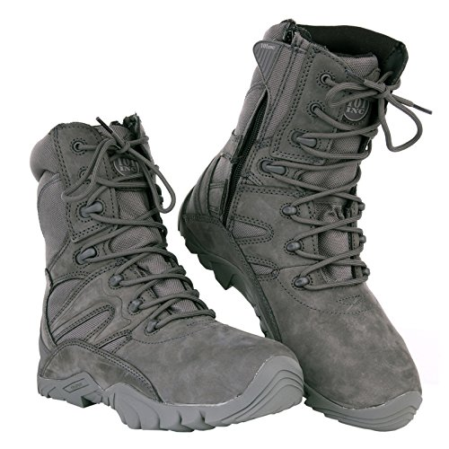 Inconnu Chaussures Airsoft Montantes Tactiques Cuir Wolf Grey (41)