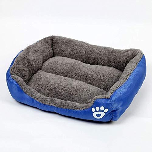 YLCJ hondenkussen voor huisdieren, antislip, vierkant, antislip, antislip, warm, mand van nest voor katten, Chenil wasbaar (kleur: koningsblauw, maat: 110 x 82 cm (35 kg))