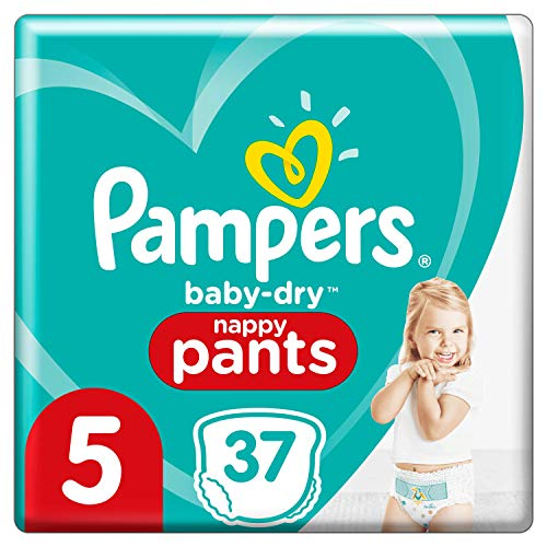 Pampers 81713115 - Baby-dry pants pantalones, unisex, pack de 2