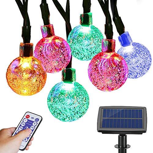 Solar Lichterkette, Garten Kristallkugeln Lichterkette 100 Led für Außen Weihnachten Hochzeiten