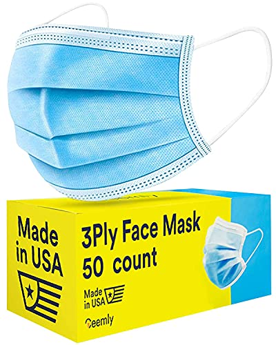 Ceemly 3Ply USA Made Face Mask - Disposable,...
