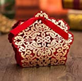 Sorive 50x Red Laser Cut Wedding Favor Boxes Wedding Candy Box Casamento Wedding Favors And Gifts event party supplies