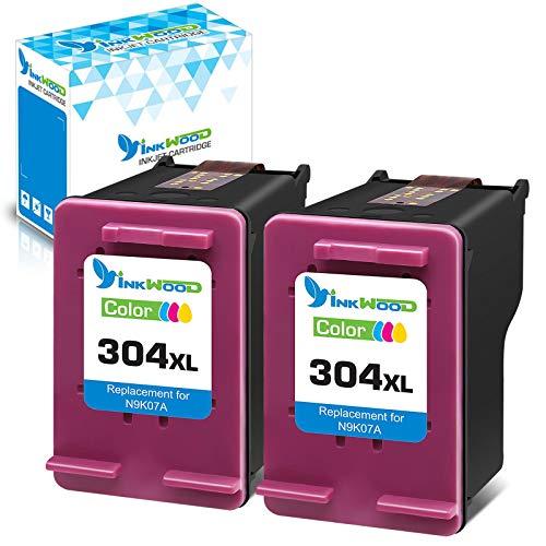 Inkwood 304 XL 2-Farbe Remanufactured Druckerpatronen Ersatz für HP 304XL Tintenpatronen für HP Envy 5010 5020 5030 5032 Deskjet 2620 2622 2630 2632 2633 2634 3720 3730 3733 3735 3750 3760 3762 3764