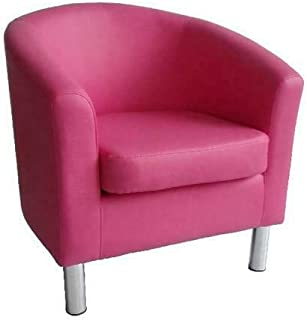 comprar comparacion The Home Garden Store - Sillón de diseño de piel con respaldo bajo, para sala de estar, recepción, of...