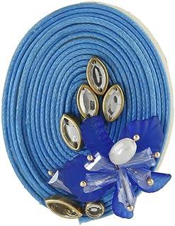 Anuradha Art Jewellery Sky-Blue Colour Fancy & Designer Traditional Sari Pin For Stylish Women