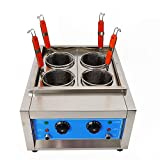 4 Holes/6 Holes Electric Pasta Cooking Machine Commercial Pasta Cooker Noodles Cooker 110V Table Top Noodles Cooker Machine with Noodle Filter (4 Holes)
