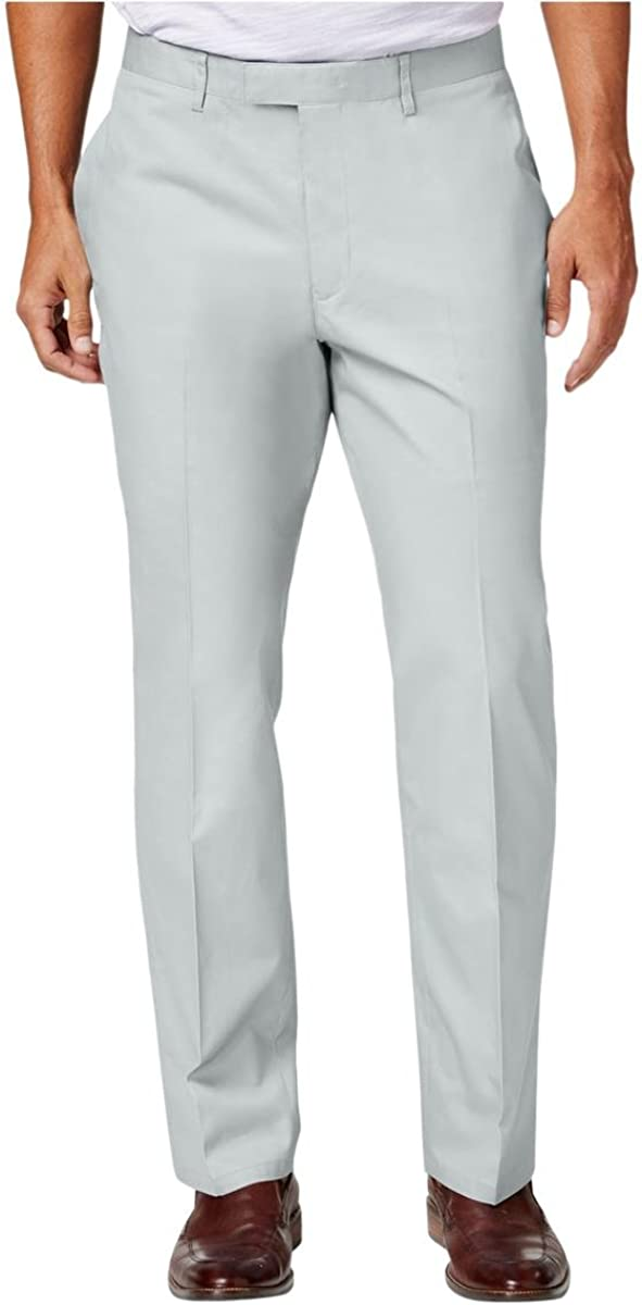 I-N-C Mens Ryder Casual Trouser Pants, Grey, 30W x 32L